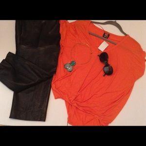 Tops - 0range Tangerine Drape V Neck Top Blouse